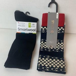 2 Pairs NEW Smartwool & Stance Mens Dress Socks